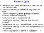 poverty quiz
