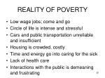 reality of poverty