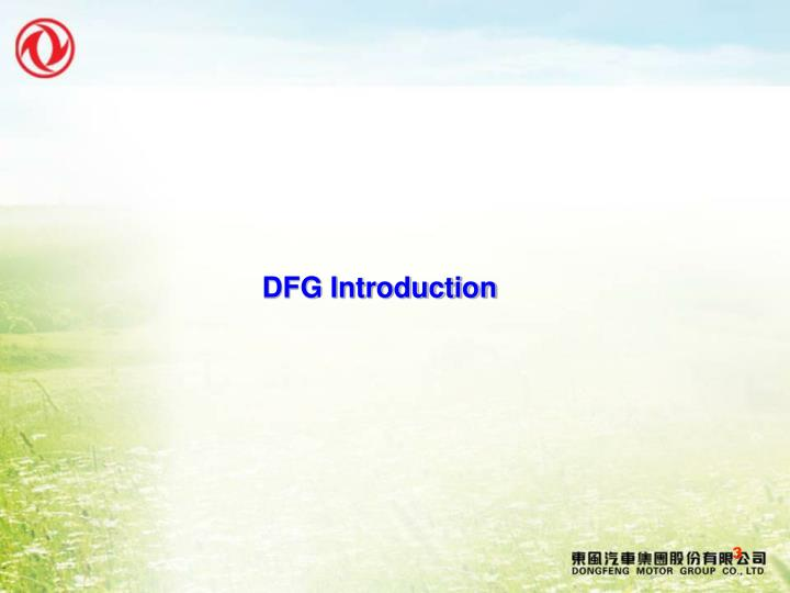 DFG Introduction