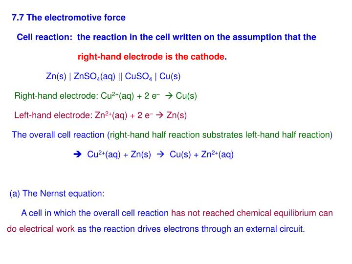 7.7 The electromotive force