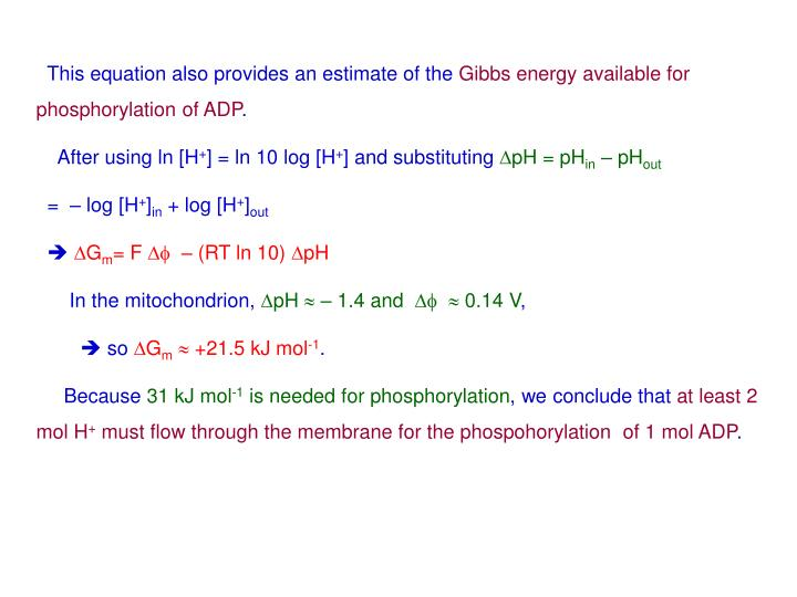 This equation also provides an estimate of the