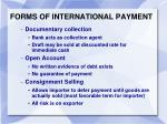forms of international payment1