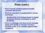price cont