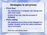 strategies to set prices