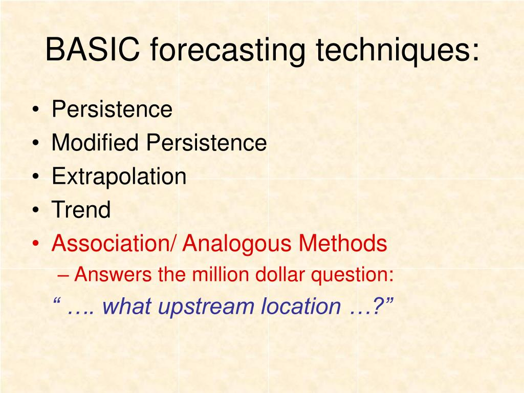 PPT - BASIC forecasting techniques: PowerPoint Presentation