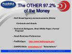 the other 97 2 of the money