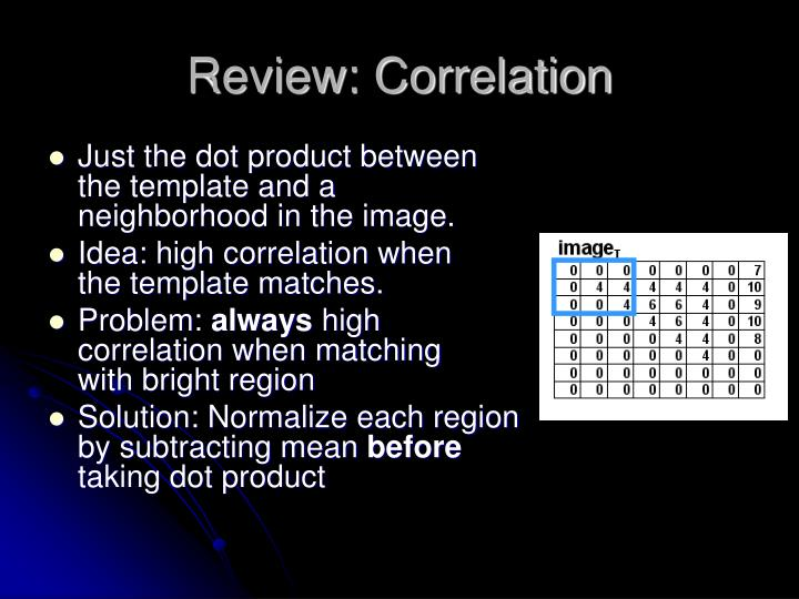 Review: Correlation