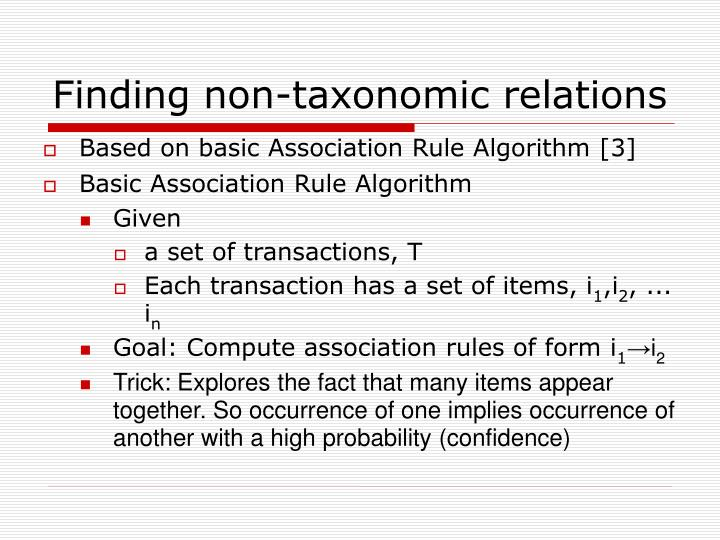Finding non-taxonomic relations