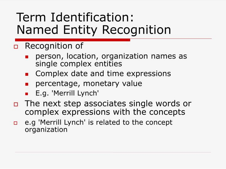 Term Identification: