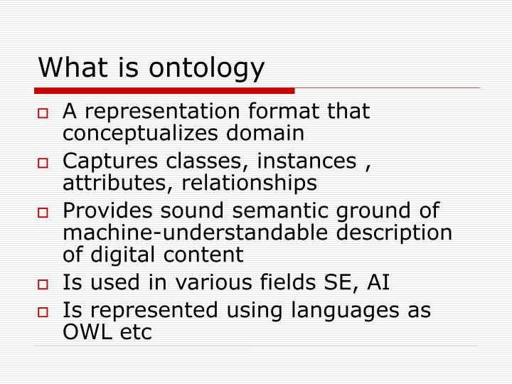 What is ontology