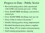 progress to date public sector