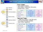 cms trigger daq in pb pb vs p p