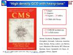 high density qcd with heavy ions