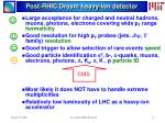 post rhic dream heavy ion detector