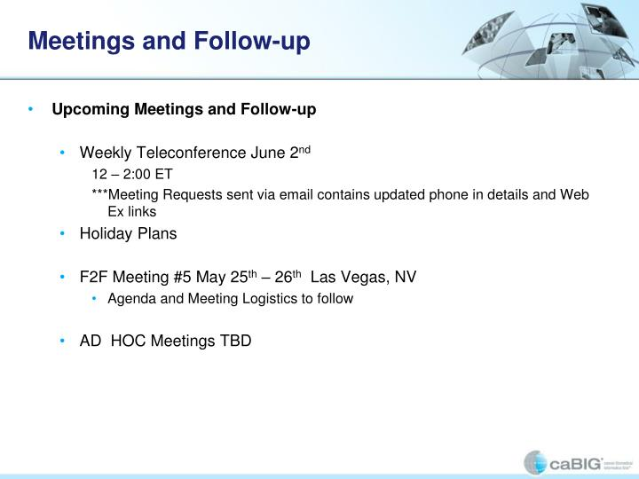 Meetings and Follow-up