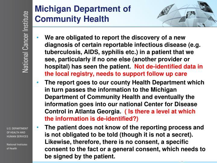 Michigan Department of Community Health