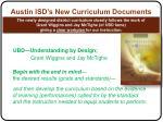 austin isd s new curriculum documents