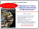 preparing for an a future college and career planning for high school seniors