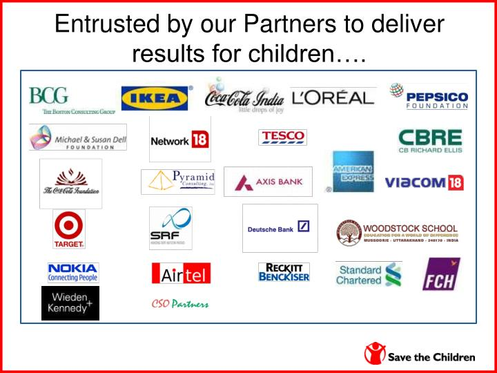 Entrusted by our Partners to deliver