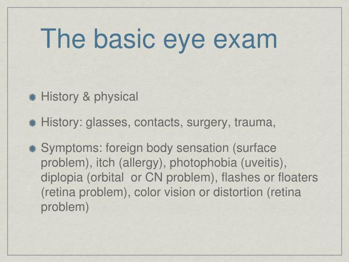 a63e1f4fe92 PPT - The Basic Eye Examination PowerPoint Presentation - ID 3699982