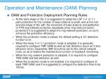 operation and maintenance oam planning3