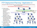 ptp deployment planning application 2