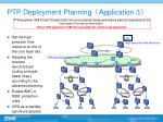 ptp deployment planning application 3