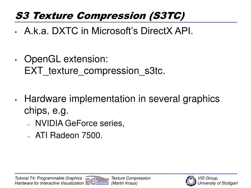 PPT - Texture Compression PowerPoint Presentation - ID:3700021
