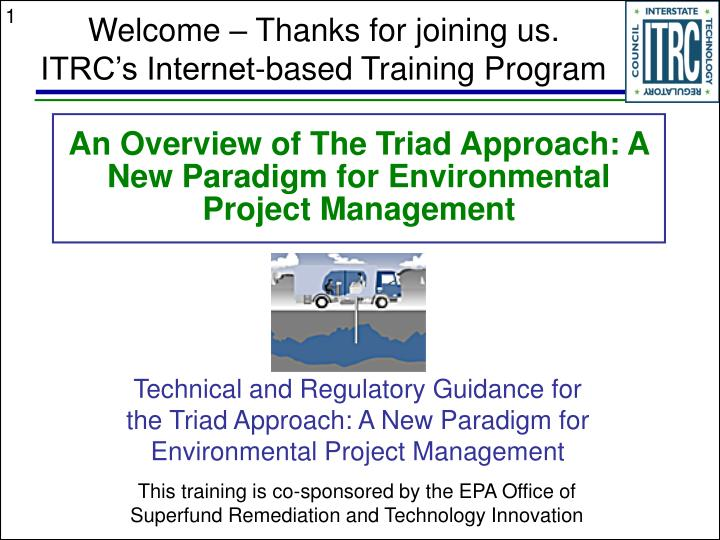 an overview of the triad approach a new paradigm for environmental project management n.