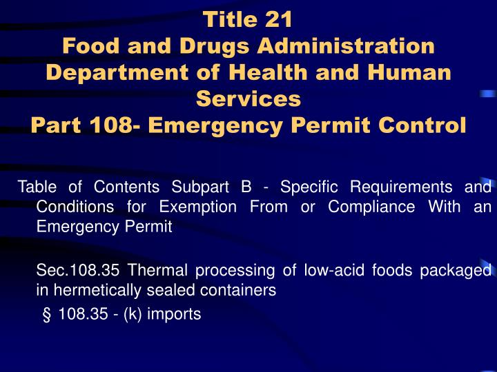 Acidified Low Acid Canned Foods Registration And Process Filing