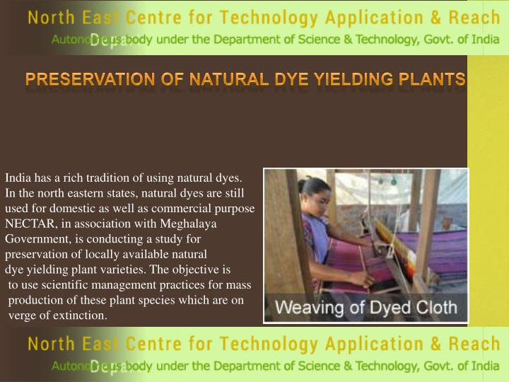 Preservation of Natural Dye Yielding Plants