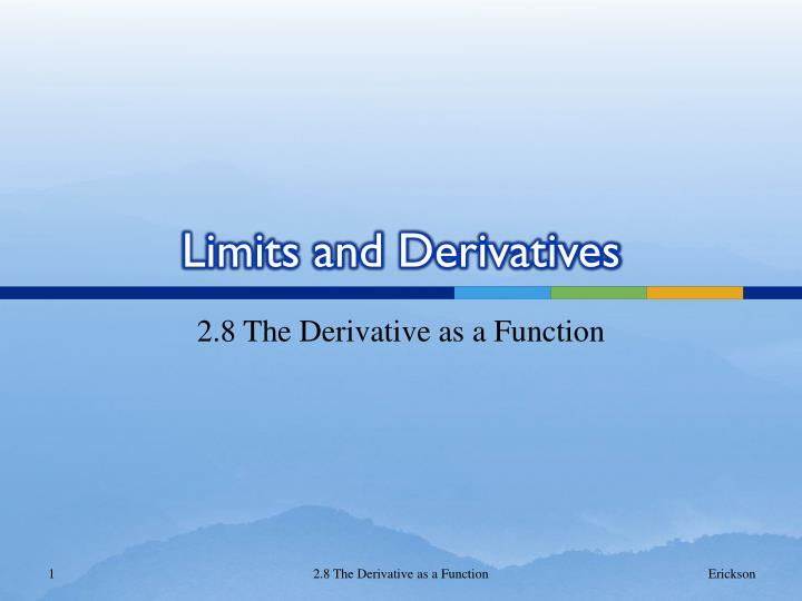 limits and derivatives n.