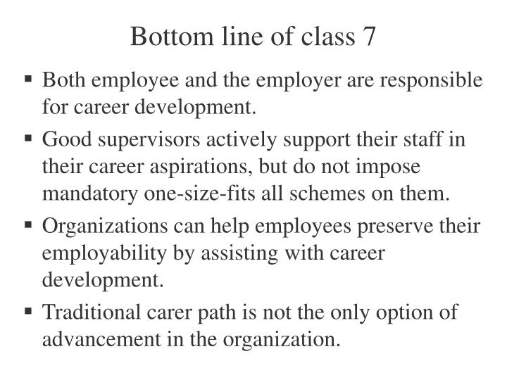 Bottom line of class 7