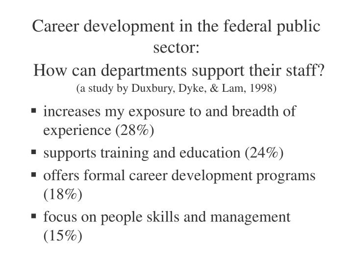 Career development in the federal public sector: