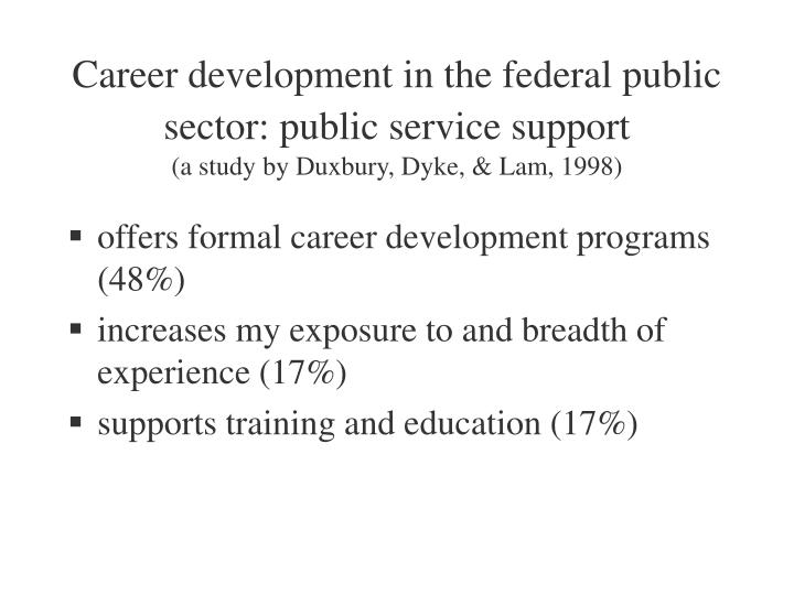 Career development in the federal public sector: public service