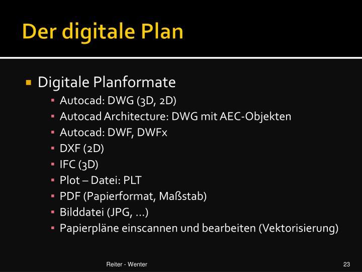 Der digitale Plan