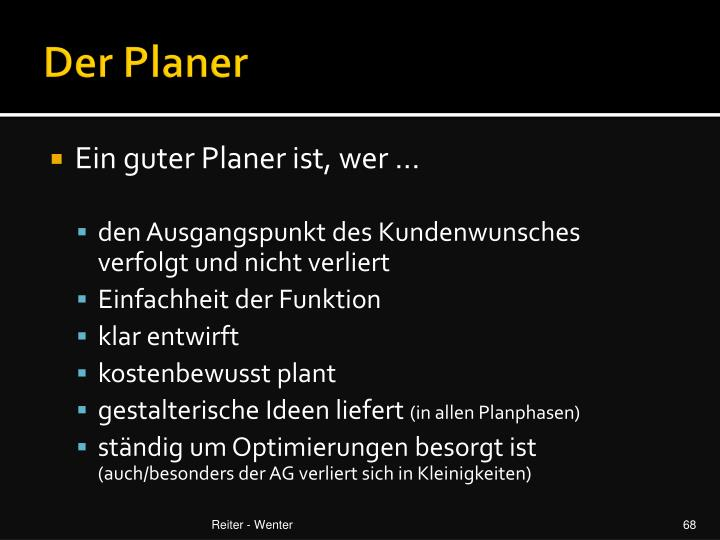 Der Planer
