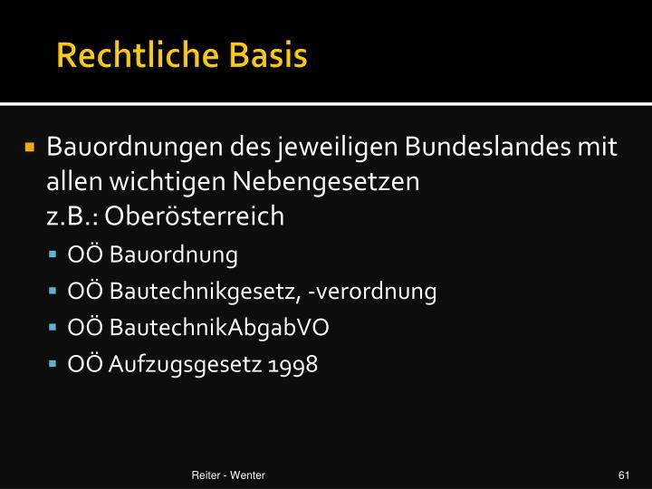 Rechtliche Basis