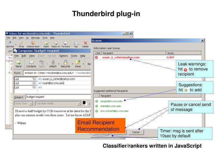 Thunderbird plug-in