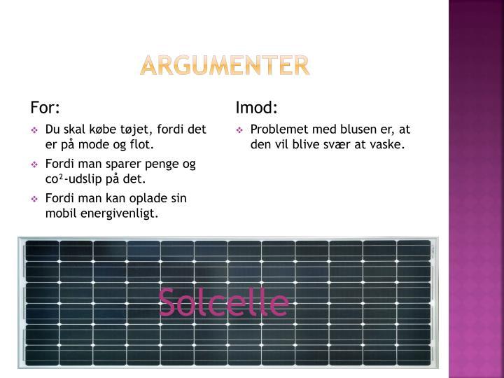 Argumenter
