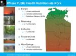 where public health nutritionists work