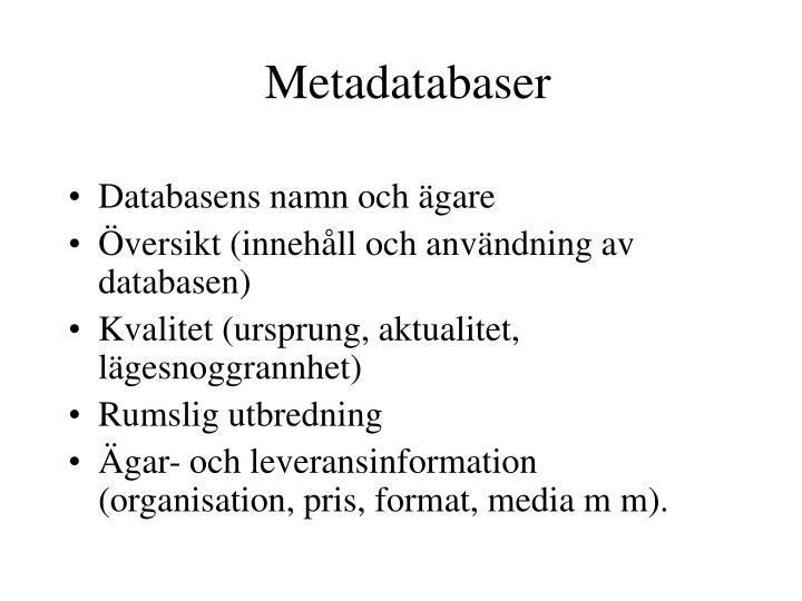 Metadatabaser