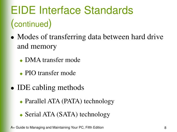 EIDE Interface Standards (