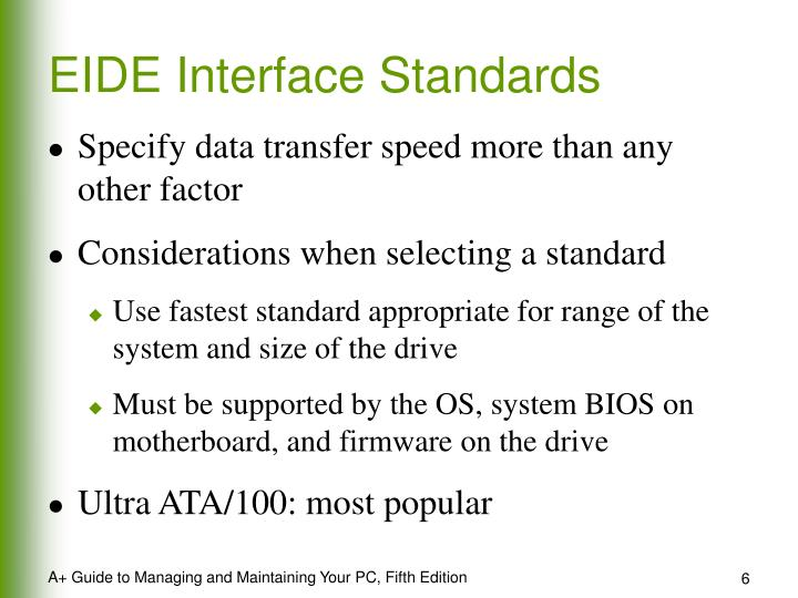 EIDE Interface Standards
