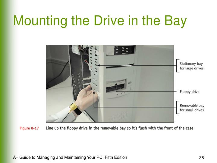 Mounting the Drive in the Bay