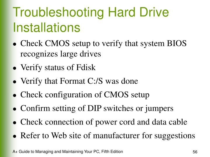 Troubleshooting Hard Drive Installations