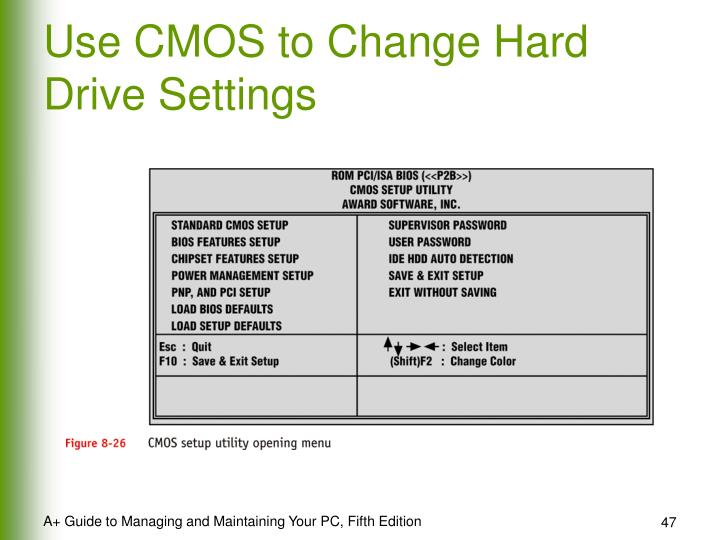 Use CMOS to Change Hard Drive Settings