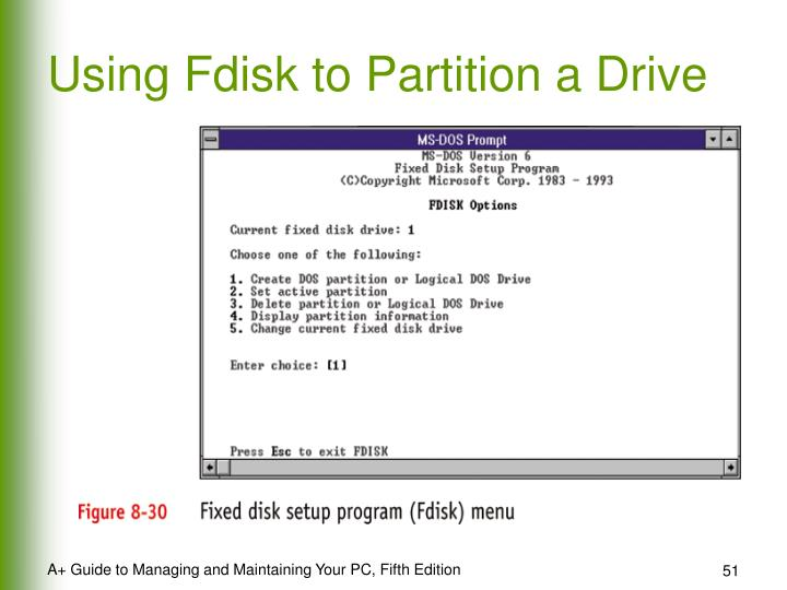 Using Fdisk to Partition a Drive