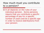 how much must you contribute to a pension