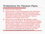 protections for pension plans1